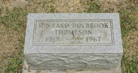 HOLBROOK THOMPSON, MINYARD - Pike County, Ohio | MINYARD HOLBROOK THOMPSON - Ohio Gravestone Photos