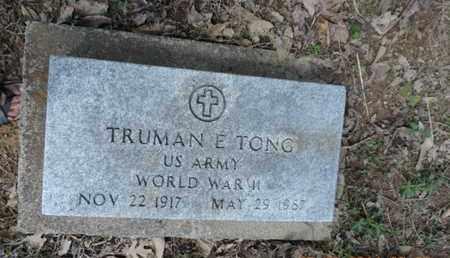 TONG, TRUMAN E. - Pike County, Ohio | TRUMAN E. TONG - Ohio Gravestone Photos