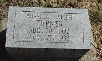 TURNER, RUSSELL ALLEN - Pike County, Ohio | RUSSELL ALLEN TURNER - Ohio Gravestone Photos
