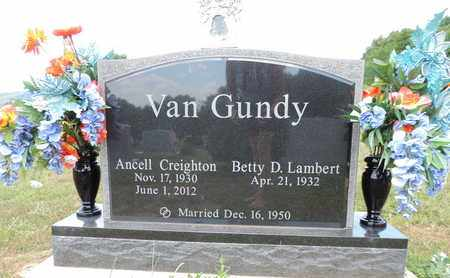 VANGUNDY, BETTY D. - Pike County, Ohio | BETTY D. VANGUNDY - Ohio Gravestone Photos