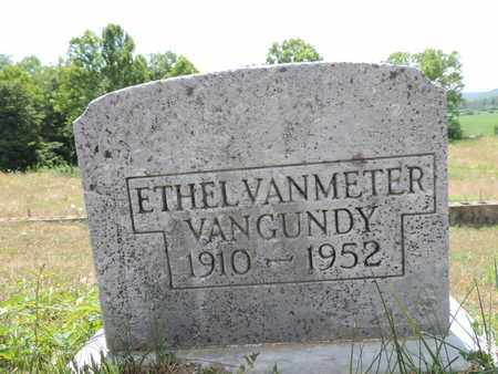 VANMETER VANGUNDY, ETHEL - Pike County, Ohio | ETHEL VANMETER VANGUNDY - Ohio Gravestone Photos