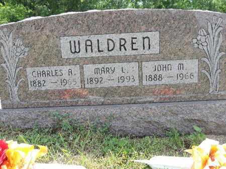 WALDREN, JOHN M. - Pike County, Ohio | JOHN M. WALDREN - Ohio Gravestone Photos