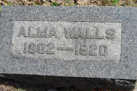 WALLS, ALMA - Pike County, Ohio | ALMA WALLS - Ohio Gravestone Photos