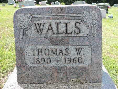 WALLS, THOMAS W. - Pike County, Ohio | THOMAS W. WALLS - Ohio Gravestone Photos