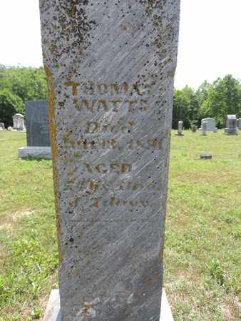 WATTS, THOMAS - Pike County, Ohio | THOMAS WATTS - Ohio Gravestone Photos