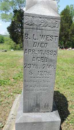 WEST, B.L. - Pike County, Ohio | B.L. WEST - Ohio Gravestone Photos
