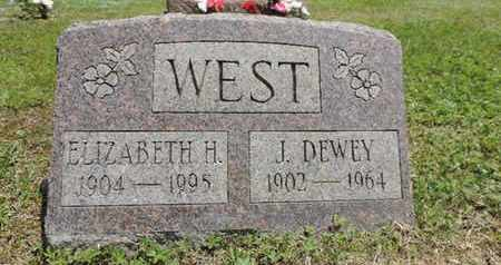WEST, ELIZABETH H. - Pike County, Ohio | ELIZABETH H. WEST - Ohio Gravestone Photos