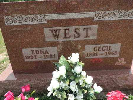 WEST, EDNA - Pike County, Ohio | EDNA WEST - Ohio Gravestone Photos
