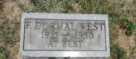 WEST, F. DORMAL - Pike County, Ohio | F. DORMAL WEST - Ohio Gravestone Photos