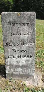 WEST, INFANT - Pike County, Ohio | INFANT WEST - Ohio Gravestone Photos