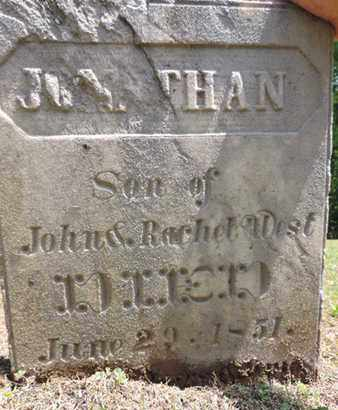 WEST, JOHNTHAN - Pike County, Ohio | JOHNTHAN WEST - Ohio Gravestone Photos