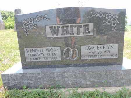 WHITE, FAVA EVELYN - Pike County, Ohio | FAVA EVELYN WHITE - Ohio Gravestone Photos
