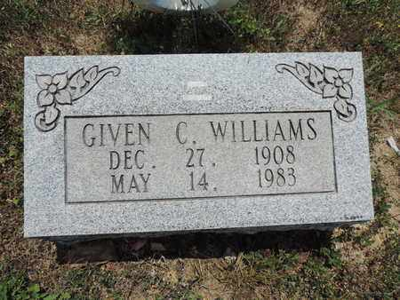 WILLIAMS, GIVEN C. - Pike County, Ohio | GIVEN C. WILLIAMS - Ohio Gravestone Photos