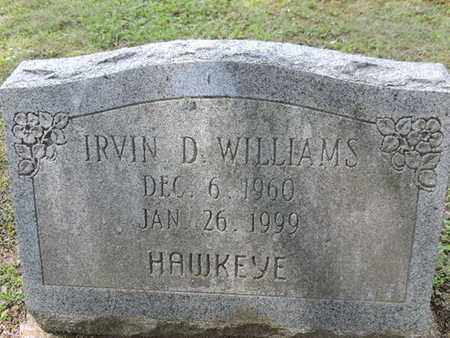 WILLIAMS, IRVIN D. - Pike County, Ohio | IRVIN D. WILLIAMS - Ohio Gravestone Photos