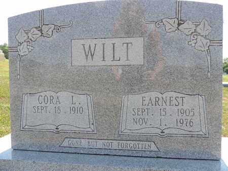 WILT, EARNEST - Pike County, Ohio | EARNEST WILT - Ohio Gravestone Photos