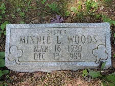 WOODS, MINNIE L. - Pike County, Ohio | MINNIE L. WOODS - Ohio Gravestone Photos