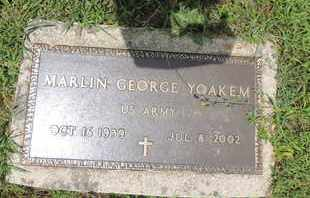YOAKEM, MARLIN GEORGE - Pike County, Ohio | MARLIN GEORGE YOAKEM - Ohio Gravestone Photos