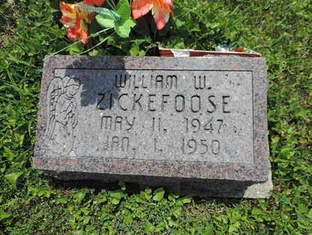 ZICKEFOOSE, WILLIAM W - Pike County, Ohio | WILLIAM W ZICKEFOOSE - Ohio Gravestone Photos