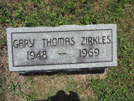 ZIRKLES, GARY THOMAS - Pike County, Ohio | GARY THOMAS ZIRKLES - Ohio Gravestone Photos