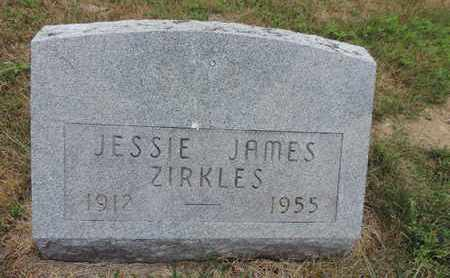 ZIRKLES, JESSIE JAMES - Pike County, Ohio | JESSIE JAMES ZIRKLES - Ohio Gravestone Photos