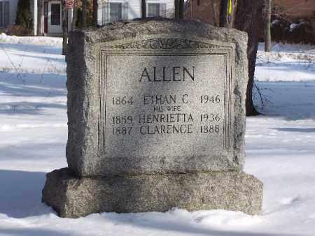 ALLEN, HENRIETTA - Portage County, Ohio | HENRIETTA ALLEN - Ohio Gravestone Photos