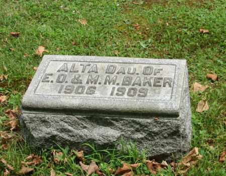 BAKER, ALTA - Portage County, Ohio | ALTA BAKER - Ohio Gravestone Photos