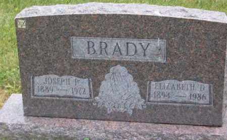 BRADY, ELIZABETH D - Portage County, Ohio | ELIZABETH D BRADY - Ohio Gravestone Photos