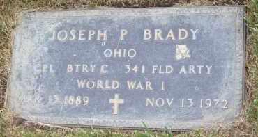 BRADY, JOSEPH P - Portage County, Ohio | JOSEPH P BRADY - Ohio Gravestone Photos