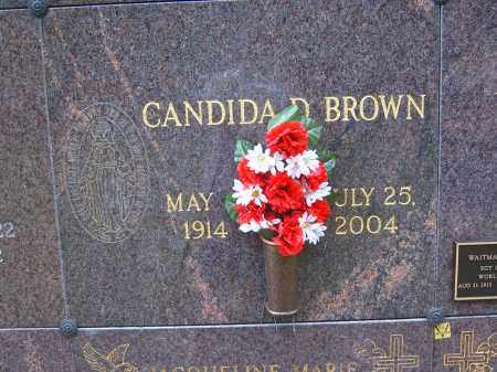 BROWN, CANDIDA D - Portage County, Ohio | CANDIDA D BROWN - Ohio Gravestone Photos