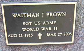 BROWN, WAITMAN J - Portage County, Ohio | WAITMAN J BROWN - Ohio Gravestone Photos