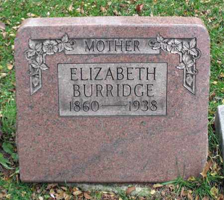 BURRIDGE, ELIZABETH - Portage County, Ohio | ELIZABETH BURRIDGE - Ohio Gravestone Photos