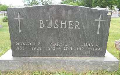 BUSHER, MARY D - Portage County, Ohio | MARY D BUSHER - Ohio Gravestone Photos