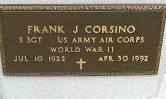 CORSINO, FRANK J - Portage County, Ohio | FRANK J CORSINO - Ohio Gravestone Photos