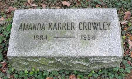 KARRER CROWLEY, AMANDA - Portage County, Ohio | AMANDA KARRER CROWLEY - Ohio Gravestone Photos