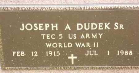 DUDEK, JOSEPH A - Portage County, Ohio | JOSEPH A DUDEK - Ohio Gravestone Photos