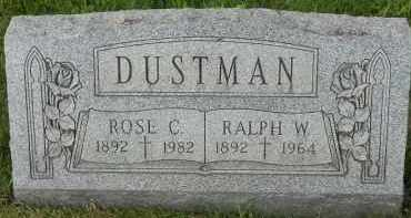 DUSTMAN, ROSE C - Portage County, Ohio | ROSE C DUSTMAN - Ohio Gravestone Photos