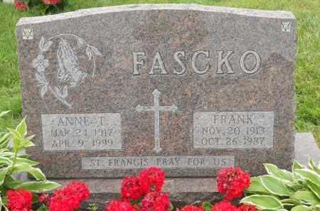 FASCKO, ANNE T - Portage County, Ohio | ANNE T FASCKO - Ohio Gravestone Photos