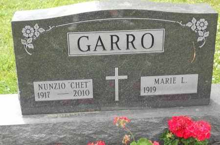 "GARRO, NUNZIO ""CHET"" - Portage County, Ohio | NUNZIO ""CHET"" GARRO - Ohio Gravestone Photos"
