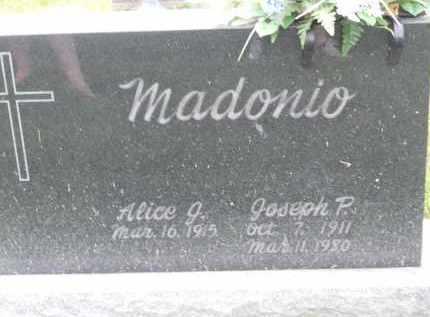 MADONIO, JOSEPH P - Portage County, Ohio | JOSEPH P MADONIO - Ohio Gravestone Photos