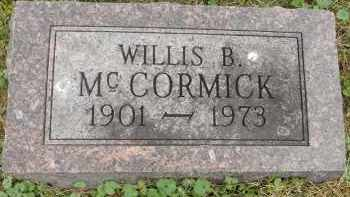 MCCORMICK, WILLIS B - Portage County, Ohio | WILLIS B MCCORMICK - Ohio Gravestone Photos
