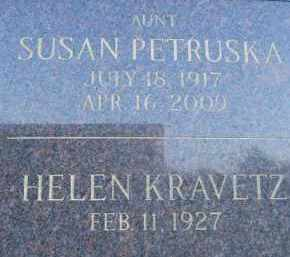 MAYHER PETRUSKA, SUSAN - Portage County, Ohio | SUSAN MAYHER PETRUSKA - Ohio Gravestone Photos