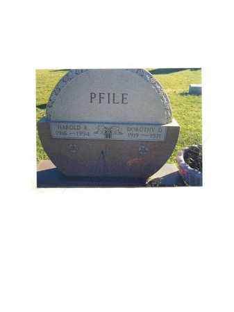 PFILE, HAROLD R. - Portage County, Ohio | HAROLD R. PFILE - Ohio Gravestone Photos