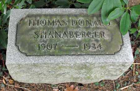 SHANABERGER, THOMAS DONALD - Portage County, Ohio | THOMAS DONALD SHANABERGER - Ohio Gravestone Photos