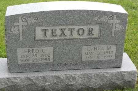 TEXTOR, ETHEL M - Portage County, Ohio | ETHEL M TEXTOR - Ohio Gravestone Photos