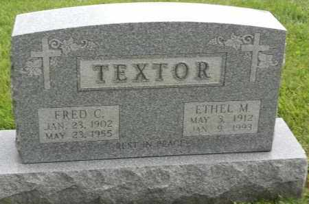 TEXTOR, FRED C - Portage County, Ohio | FRED C TEXTOR - Ohio Gravestone Photos