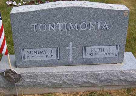 TONTIMONIA, RUTH J - Portage County, Ohio | RUTH J TONTIMONIA - Ohio Gravestone Photos