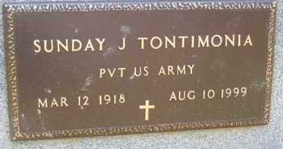TONTIMONIA, SUNDAY J - Portage County, Ohio | SUNDAY J TONTIMONIA - Ohio Gravestone Photos