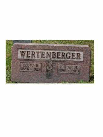 WERTENBERGER, LULA M - Portage County, Ohio | LULA M WERTENBERGER - Ohio Gravestone Photos
