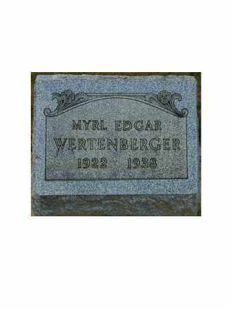 WERTENBERGER, MYRL EDGAR - Portage County, Ohio | MYRL EDGAR WERTENBERGER - Ohio Gravestone Photos