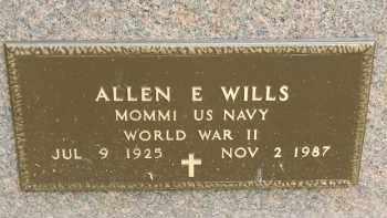 WILLS, ALLEN EUGENE - Portage County, Ohio | ALLEN EUGENE WILLS - Ohio Gravestone Photos